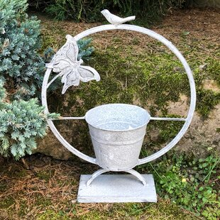 Lorin Metal Statue Planter By Brambly Cottage