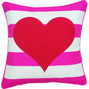 Margate Valentine's Day Heart Stripe Indoor/Outdoor Throw Pillow
