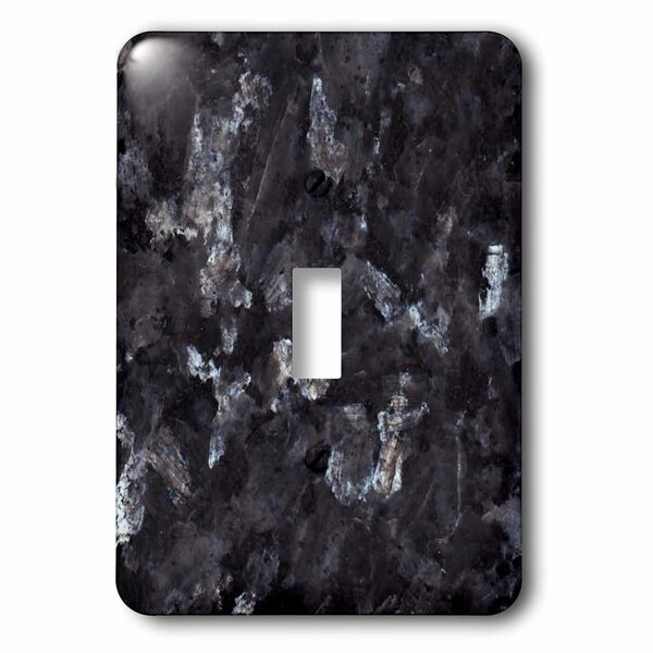 Pearl Granite Print 1-Gang Toggle Light Switch Wall Plate by 3dRose
