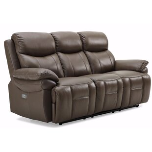 Loretta Genuine Leather 3 Seater Reclining Sofa By Ebern Designs