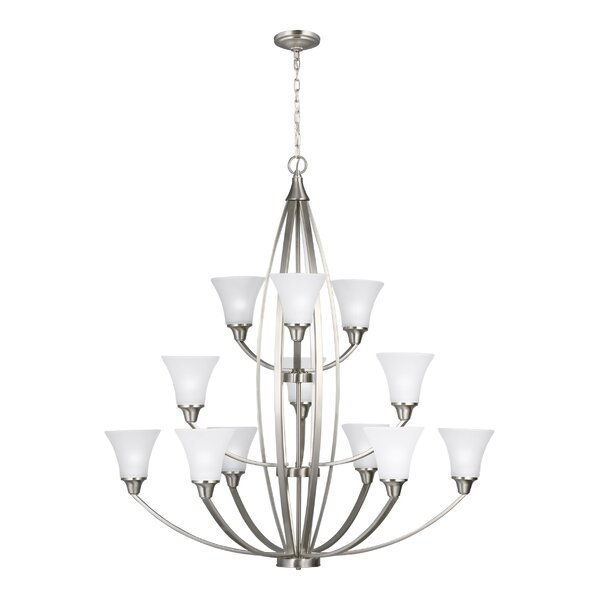 Darby Home Co Irvona 12 Light Shaded Tiered Chandelier Wayfair