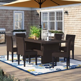 Tegan 7 Piece Outdoor Patio Dining Set with Cushions