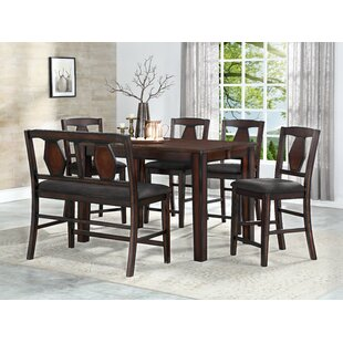 Canady 6 Piece Pub Table Set DarHome Co