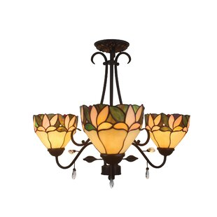 Astoria Grand Poulin Leafy 3-Light Shaded Chandelier