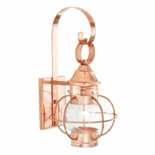 Gracie Oaks Lyla 1-Light Outdoor Wall Lantern