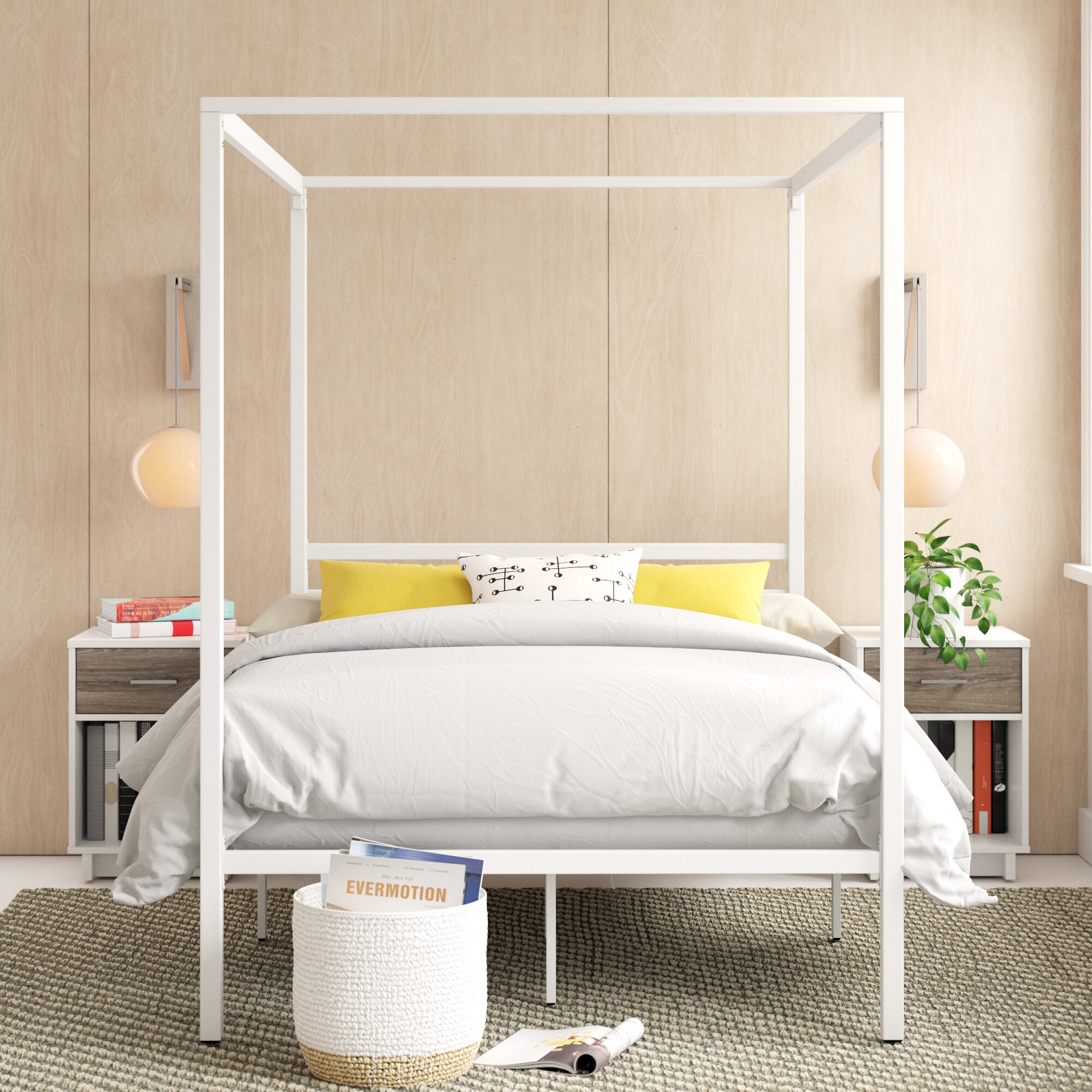 Image of: Zipcode Design Orpha Canopy Bed Reviews Wayfair