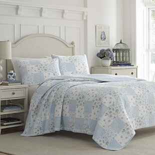 Kenna 100% Cotton 3 Piece Reversible Quilt Set by Laura Ashley Home by Laura Ashley