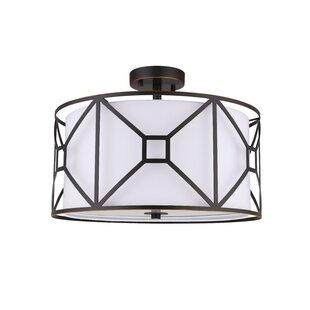 Hultgren 3-Light LED Integrated Semi Flush Mount by Brayden Studio