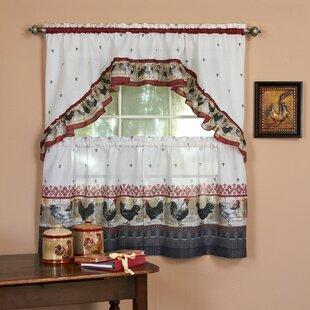 Rooster Kitchen Curtains Wayfair