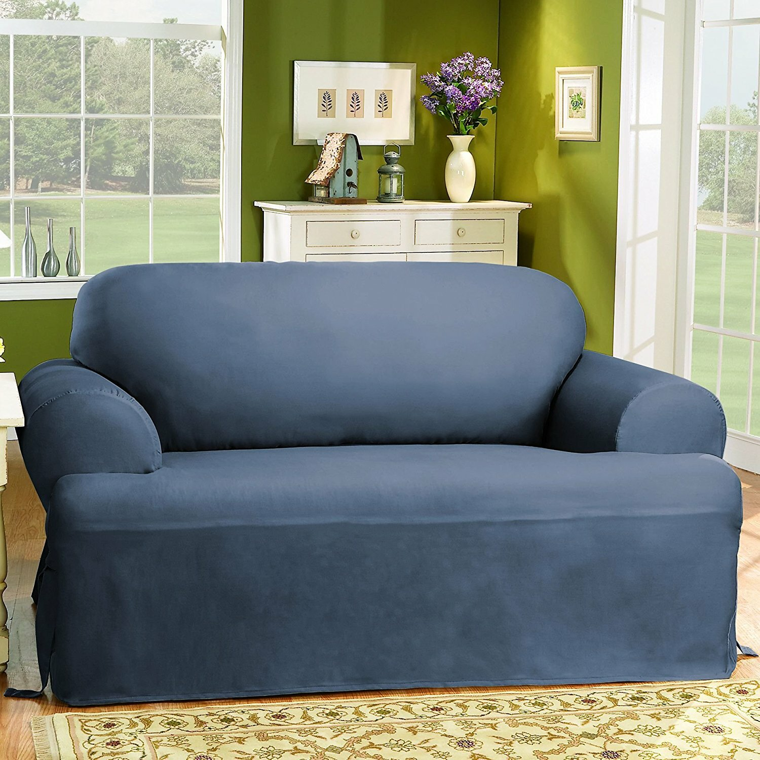 sure fit cotton duck t cushion loveseat slipcover reviews wayfair rh wayfair com sofa and loveseat slipcovers sets grey sofa and loveseat slipcovers