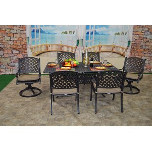 Wes 7 Piece Sunbrella Dining Set with Cushions
