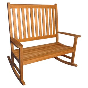 Teak Double Rocking Garden Bench