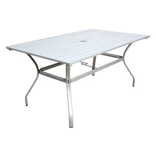 Slat Steel Dining Table Pride Family Brands