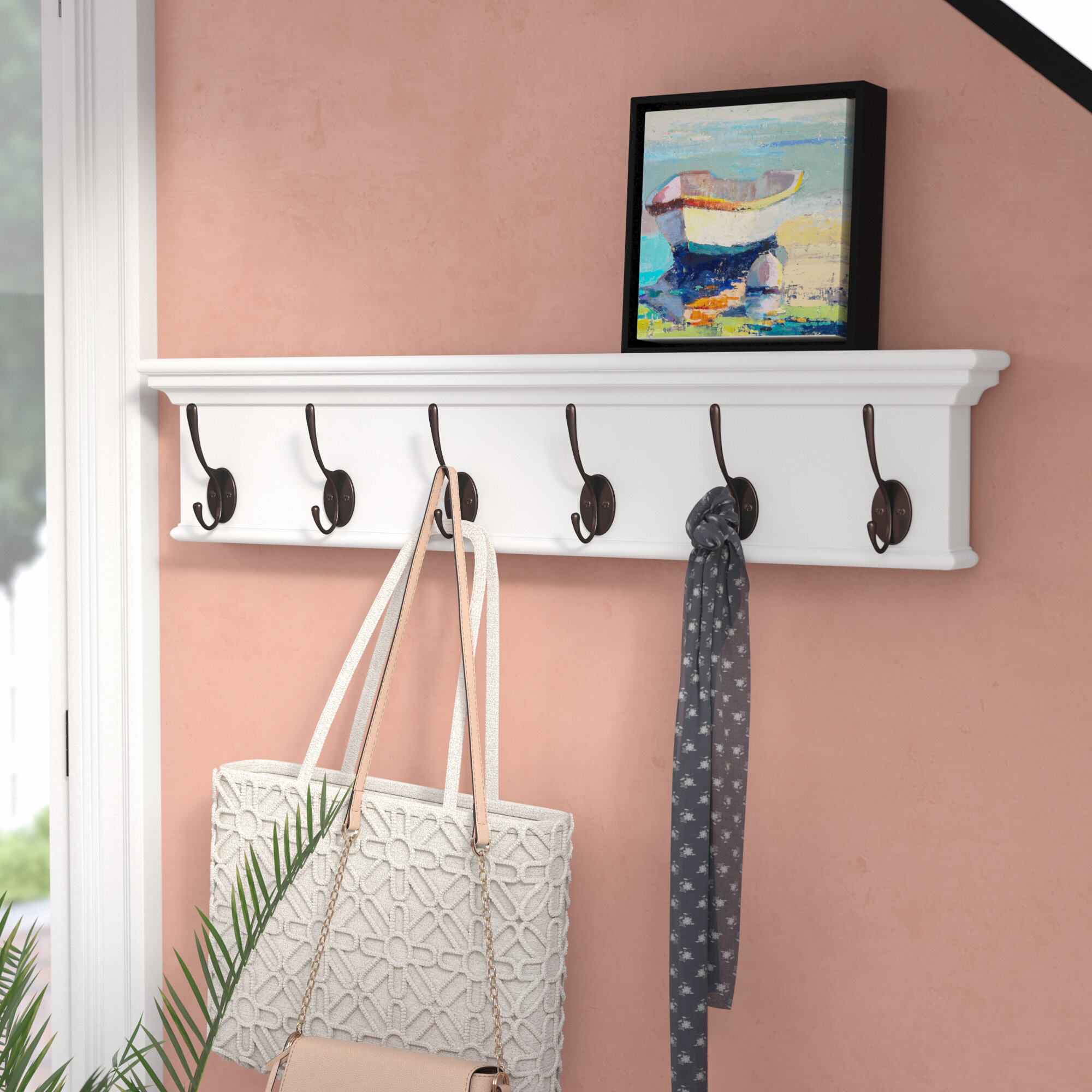 Beachcrest Home Amityville Wall Mounted Coat Rack Reviews