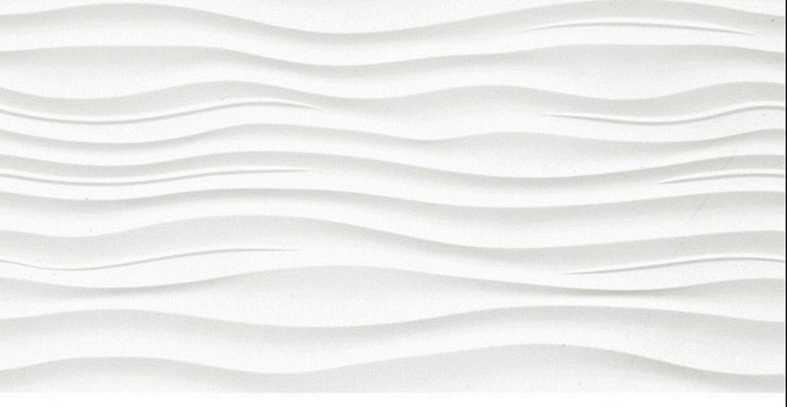 Surface 12 X 24 Porcelain Tile In Ripple White