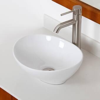 Sinkology Confucius Metal Oval Vessel Bathroom Sink Reviews Wayfair