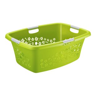 Flowers Plastic Laundry Basket By Rotho