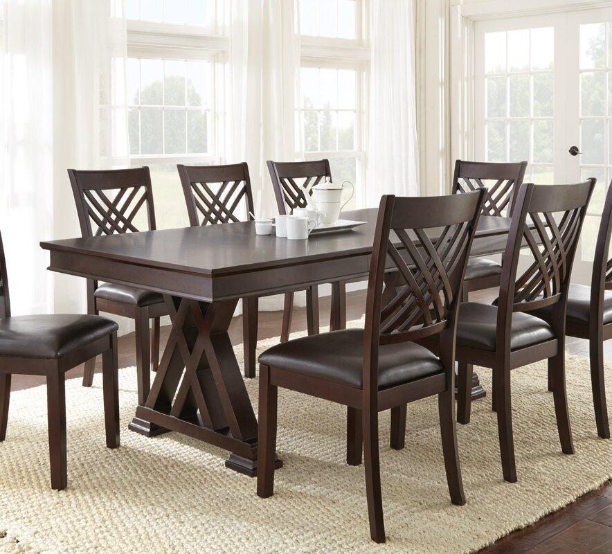 Extending Dining Room Table brayden studio adrian extendable dining table & reviews | wayfair