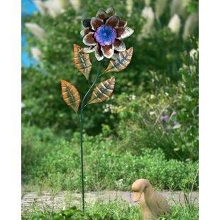 Metal Flower Garden Stake