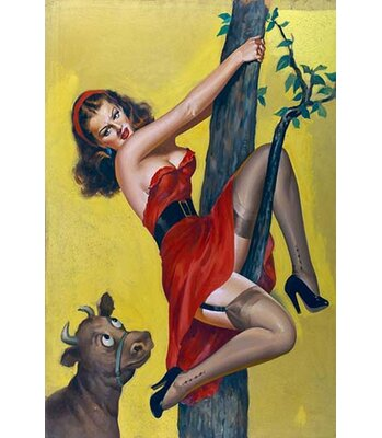 Moo Up A Tree By Peter Driben Painting Print Buyenlarge Size 66 H X 44 W X 15 D