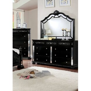 Orrington 9 Drawer Double Dresser with Mirror
