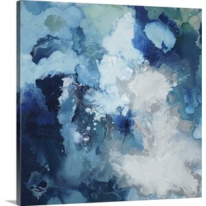 'Blu Flo' by Randy Hibberd Painting Print on Canvas
