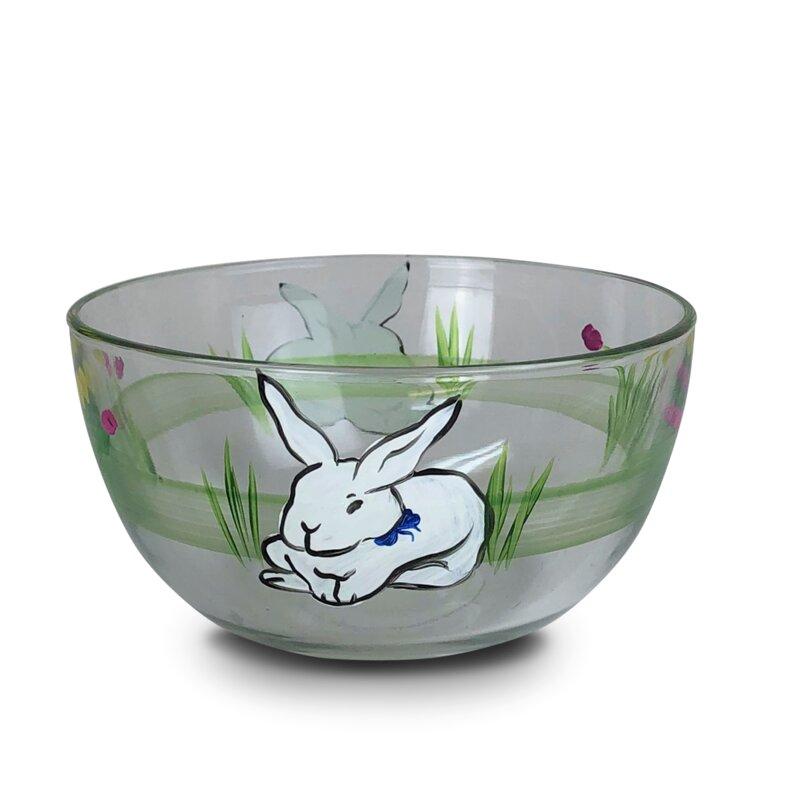 The Holiday Aisle Lisson Bunny And Tulip 24 Fl Oz Serving Bowl Wayfair