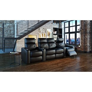 Power Leather Home Theater Configurable Seating by Ebern Designs