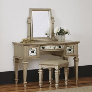 Rosdorf Park Erica Vanity Set with Mirror