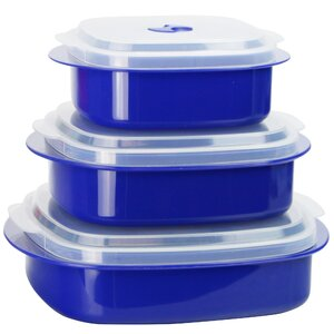 Calypso Basics Microwave Cookware 3 Container Food Storage Set