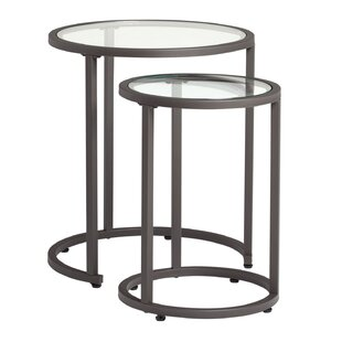 Glass nesting tables youll love wayfair camber 2 piece nesting tables watchthetrailerfo