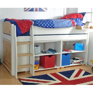 Jodi European Single Mid Sleeper Bed With Drawers And Shelves By Zoomie Kids