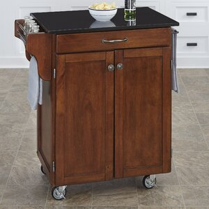 Savorey Granite Top Kitchen Cart