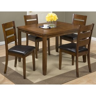 Amir 5 Piece Solid Wood Dining Set (Set of 5) Millwood Pines