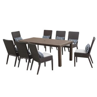 Capetown 9 Piece Sunbrella Dining Set with Cushions by Brayden Studio