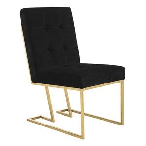 Samuel Velvet Side Chair by Everly Quinn