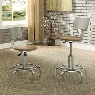 Emmaline Swivel Bar Stool (Set of 2) by 17 Stories