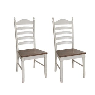 Ruskin Ladder Back Dining Chair (Set of 2) Rosecliff Heights