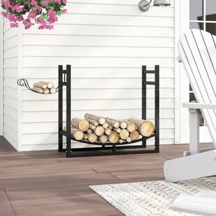 Cali Firewood Log Rack With Kindling Holder By WFX Utility