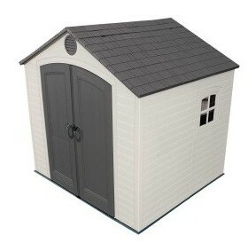 8 Ft. W X 7 Ft. D Apex Plastic Shed By Lifetime