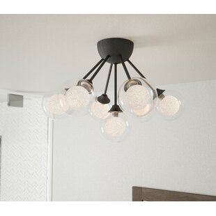 Oak 6-Light Semi Flush Mount b..