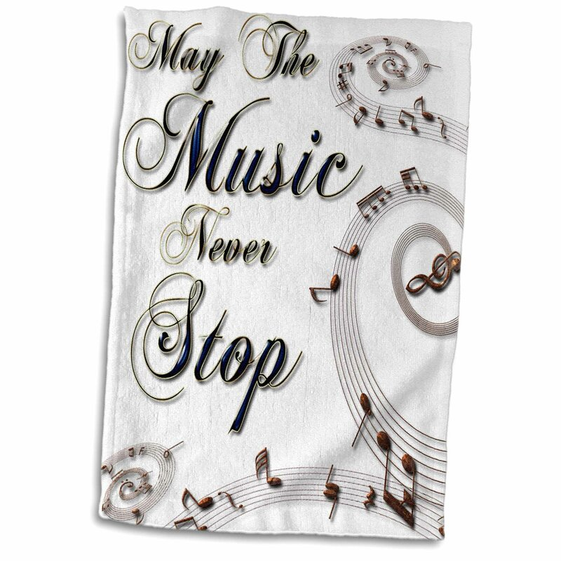 East Urban Home Avila May The Music Never Stop With Musical Notes Hand Towel Wayfair