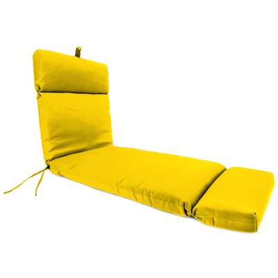 French Edge Indoor/Outdoor Chaise Lounge Cushion Fabric: Veranda Lemon by Alcott Hill