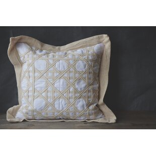 Patina Vie Vintage Caning Sea Linen Throw Pillow