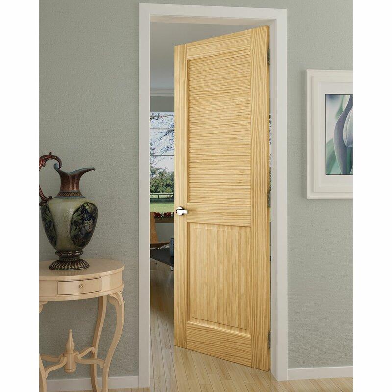 Kiby Solid Wood Louvered Pine Slab Interior Door Wayfair