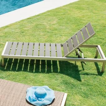 Orren Ellis Chipman Outdoor Reclining Chaise Lounge Reviews Wayfair