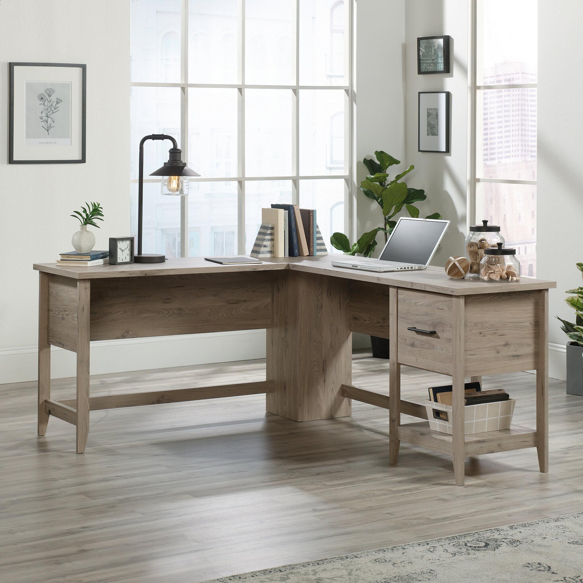 Gracie Oaks Cletus L Shape Computer Desk Reviews Wayfair