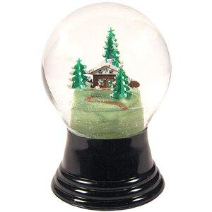 Chalet Amongst Trees Snow Globe