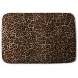 Blauvelt Leopard Print Designer Rectangle Non-Slip Animal Print Bath Rug