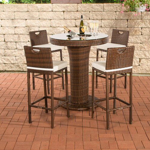 4-Sitzer Bartisch-Set KaJaneiro mit Polster Sansibar Home   Küche und Esszimmer > Bar-Möbel > Bar-Stehtische   Sansibar Home